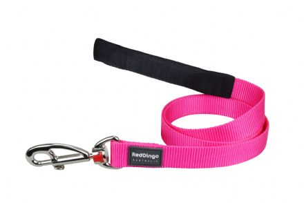 Red Dingo Dog Lead Classic Hot Pink